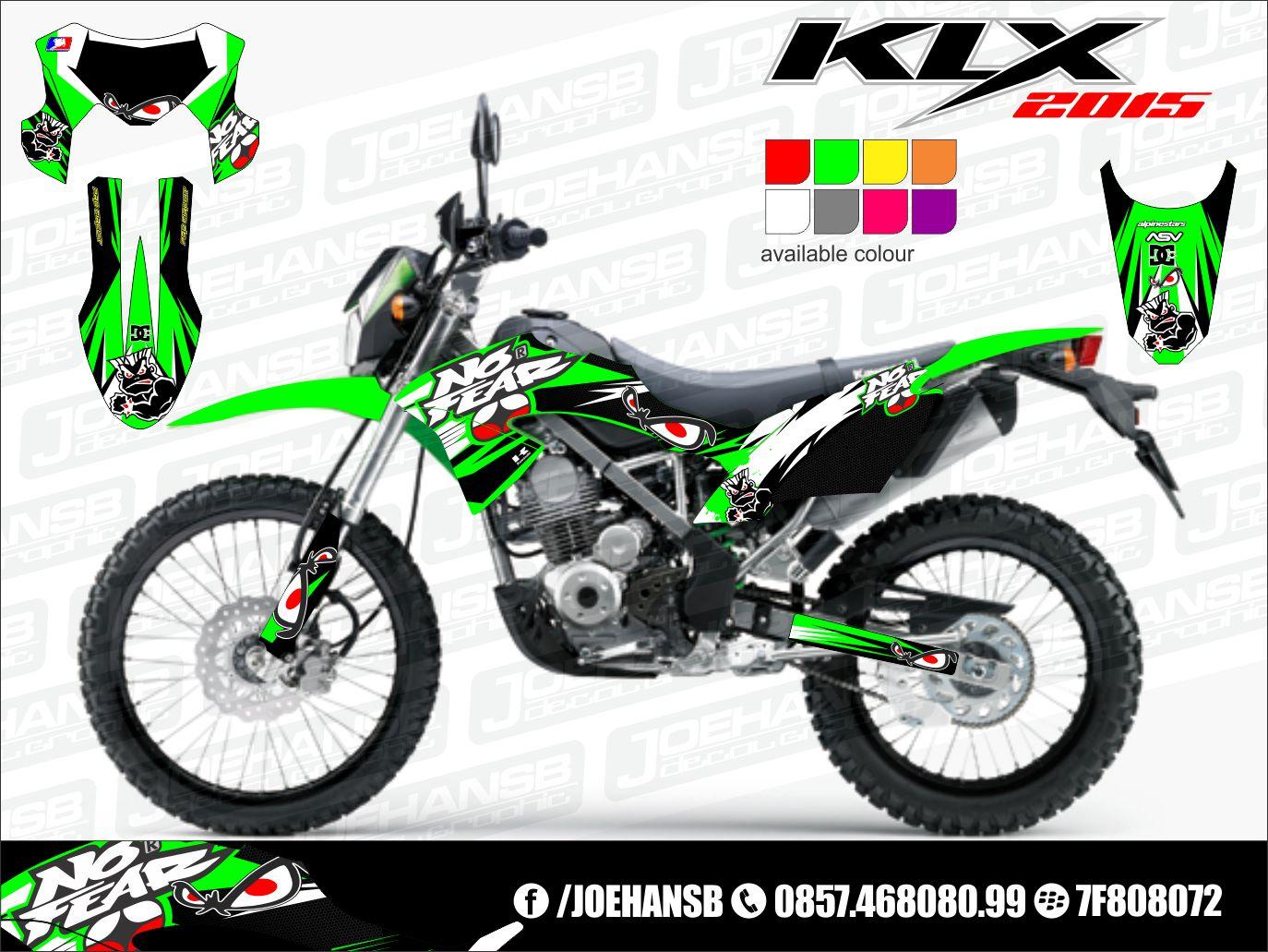 Gambar modifikasi stiker motor klx