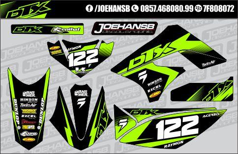 Klx1500cc berbalut green lime seger coy joehansb decal graphic