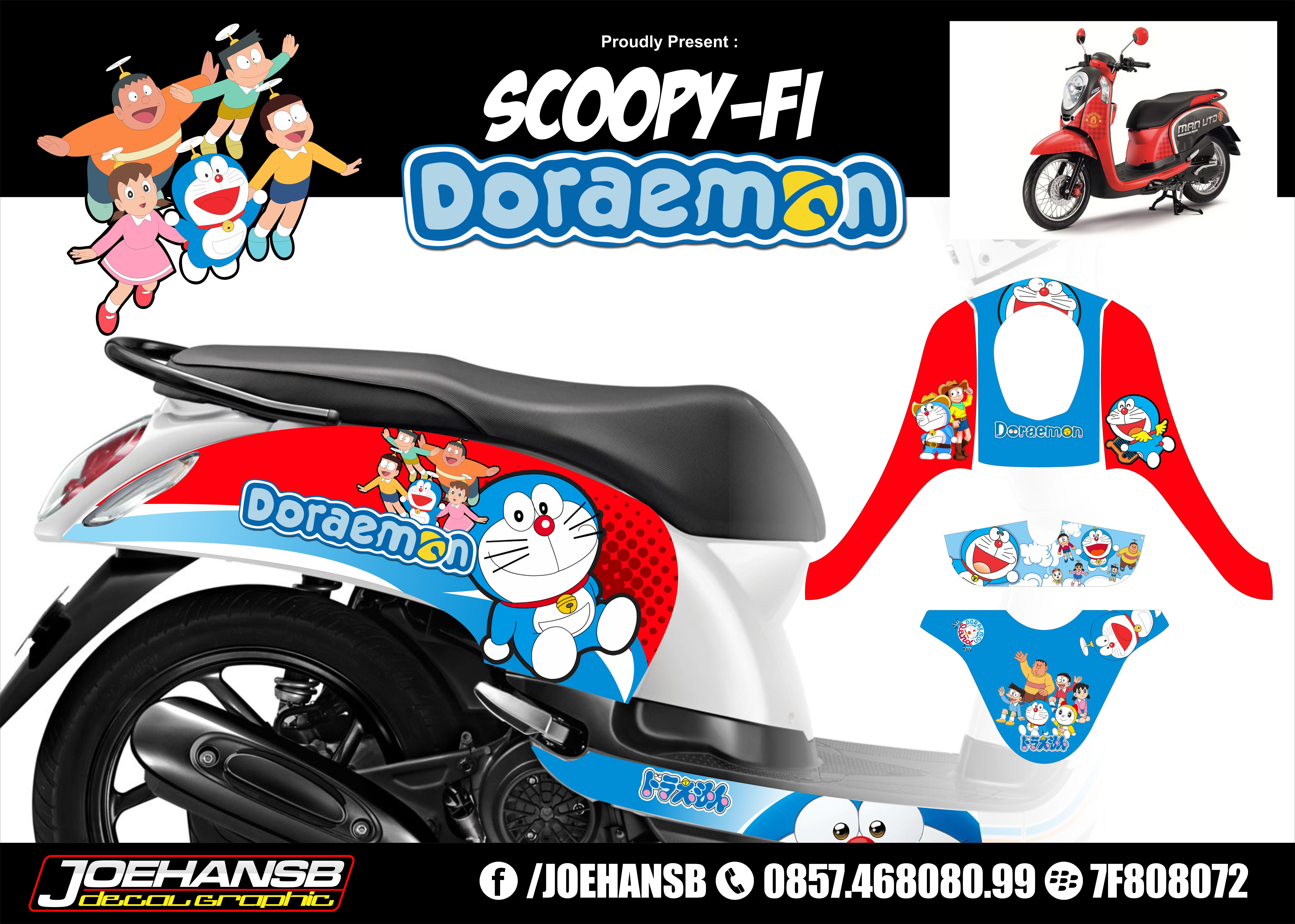 98 Modif Motor Scoopy Doraemon Terlengkap Kumbara Modif