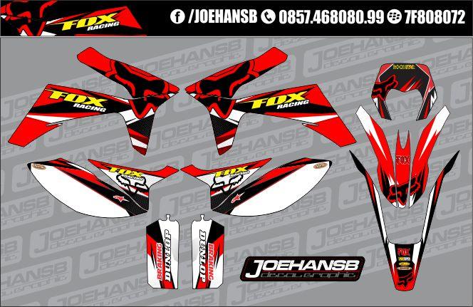 Striping Viar 150 200 Cc Ala FOX Racing Red Joehansb