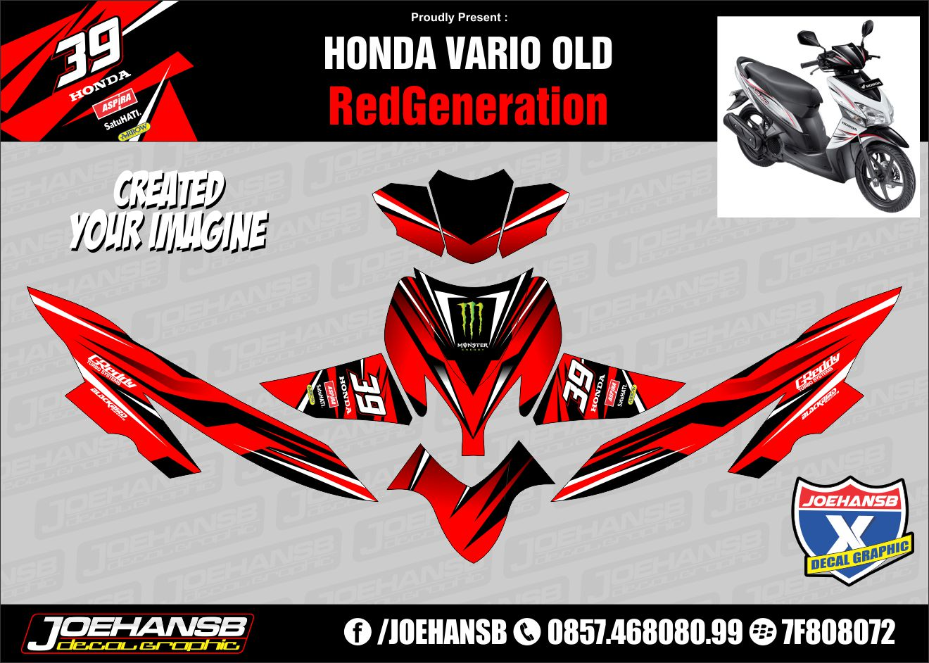 Motif Stiker Vario 110 Custom Stickers