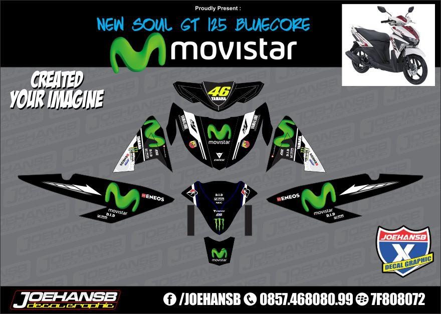 modifikasi stiker soul gt  bluecore movistar black