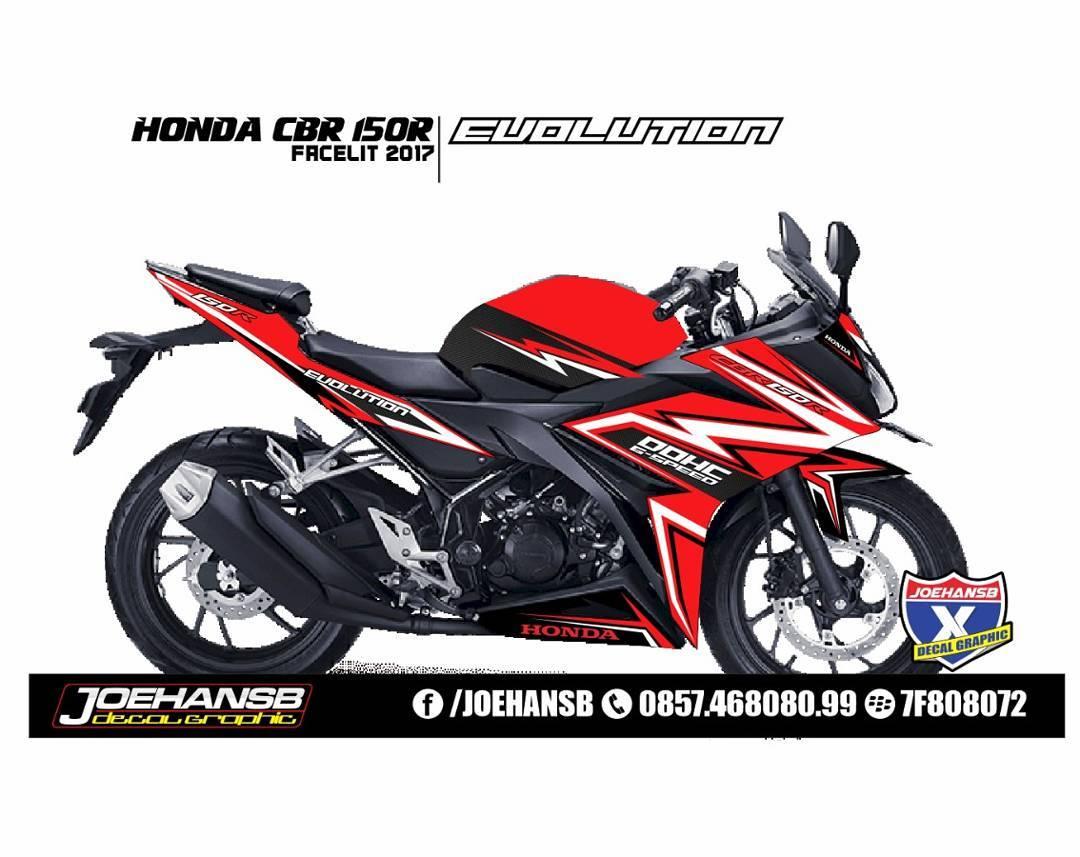 Modifikasi Striping Honda Cbr 150R Facelit Red #striping
