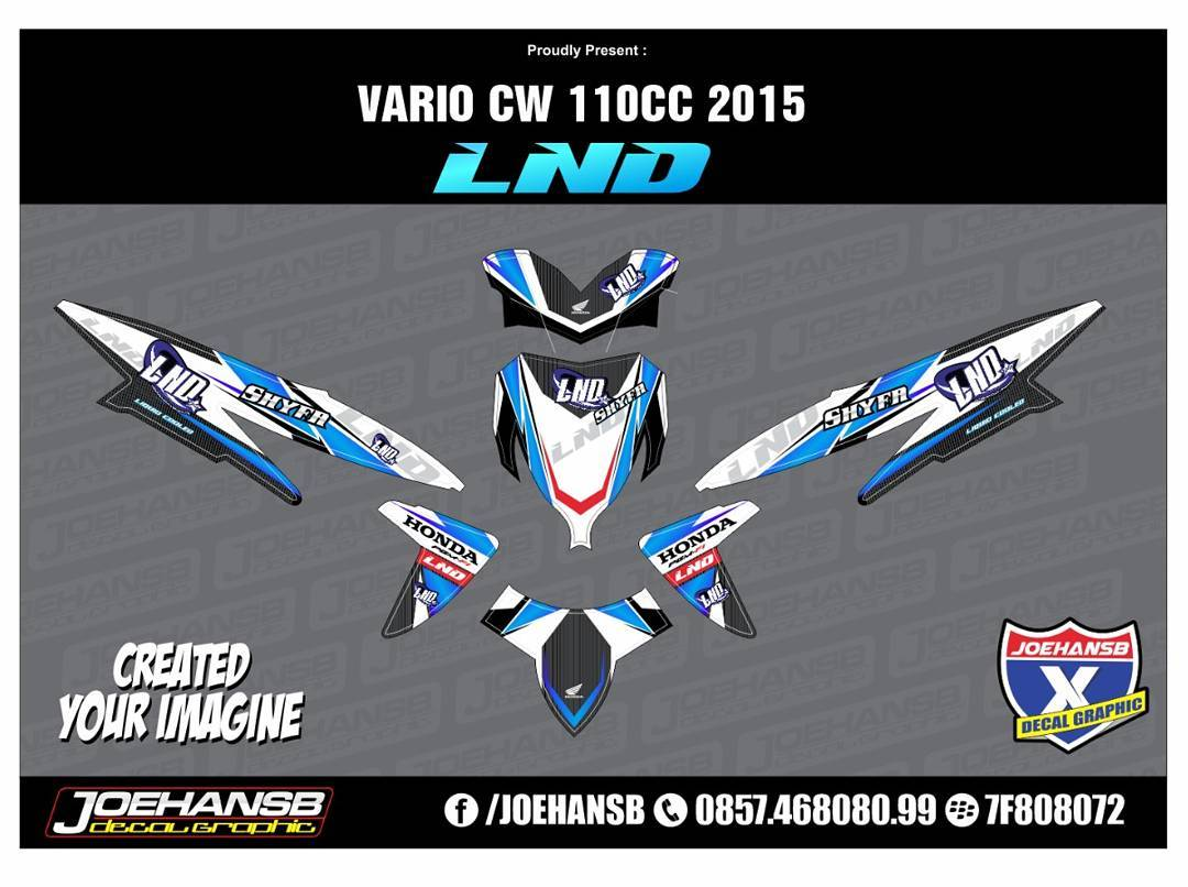 Modifikasi striping honda vario 110 racing style striping stickers decals joehansb jualdecal honda vario110 racinglook