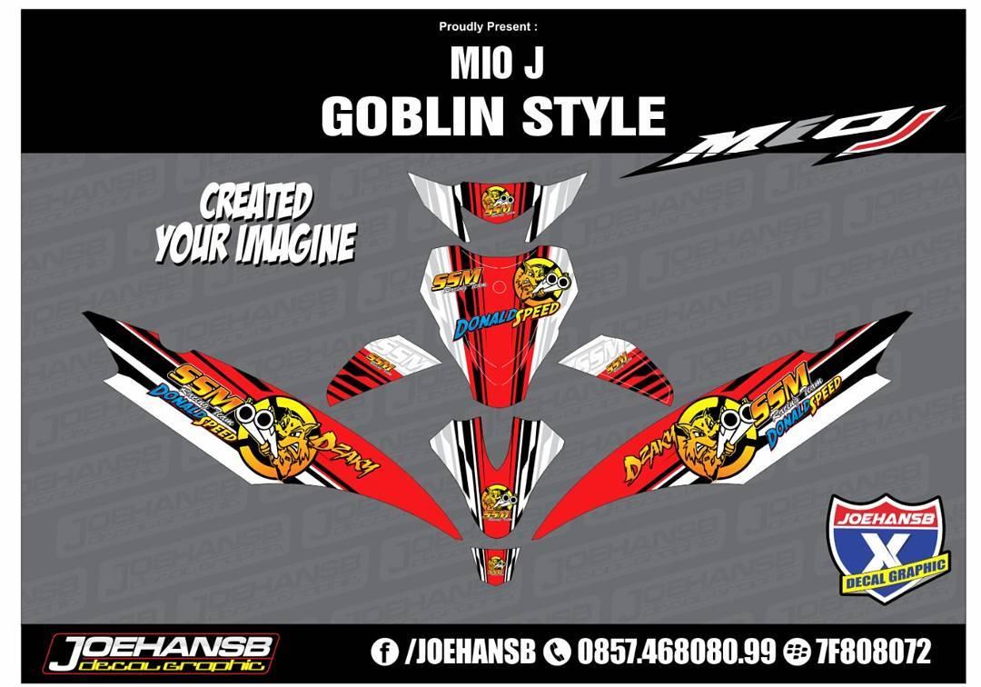 Modifikasi Striping MIO J Racing Style Team SSM Racing Donald - Mio decalsmodifikasi striping mio j striping stickers decals joehansb