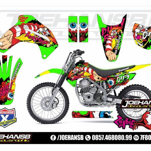 Joehansb Decal Graphic Page Decal Stiker - Mio decalsyamaha mio sporty green force lime color striping stickers