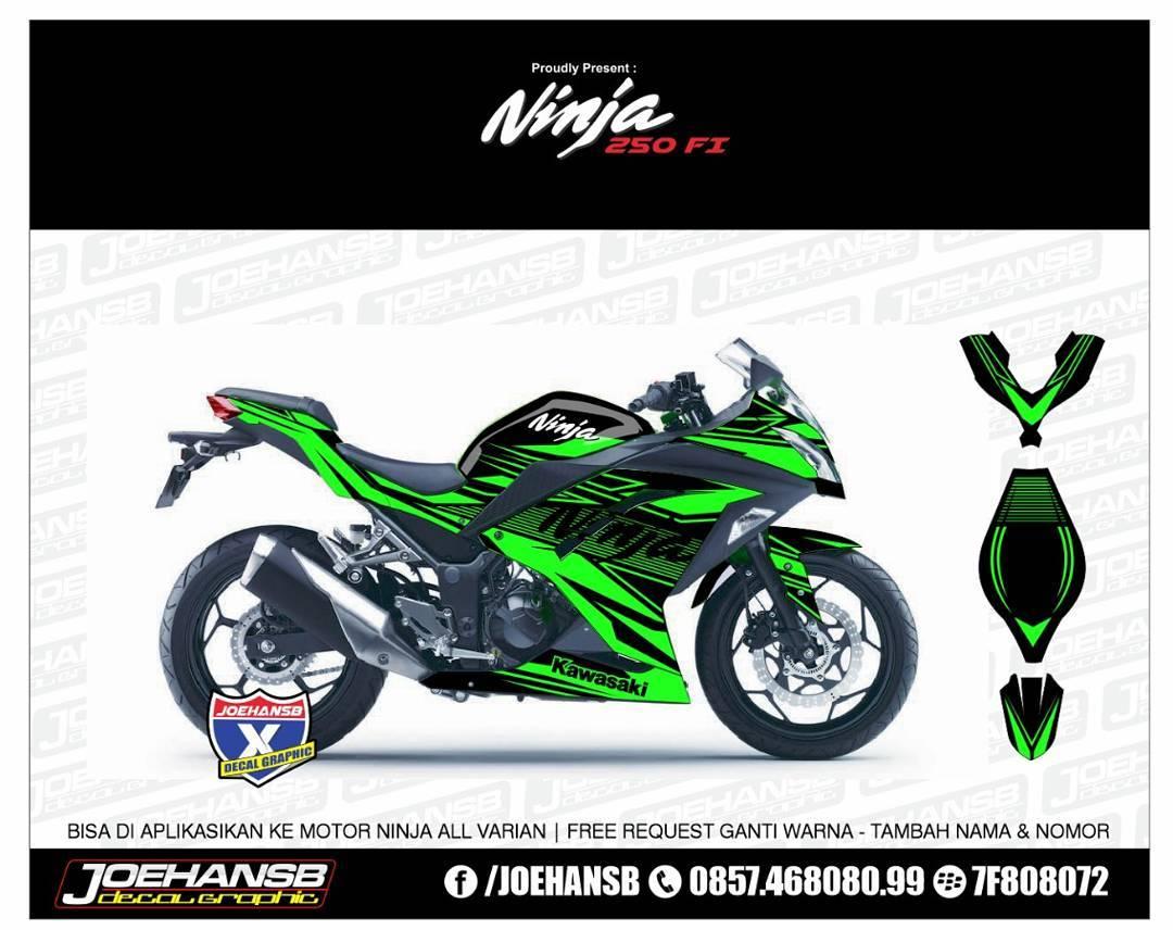 Kawasaki Ninja 250 fi Green aliner #striping #stickers