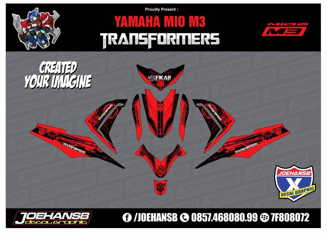 Mio m3 z transformers red striping stickers decals joehansb jualdecal miom3 transformers