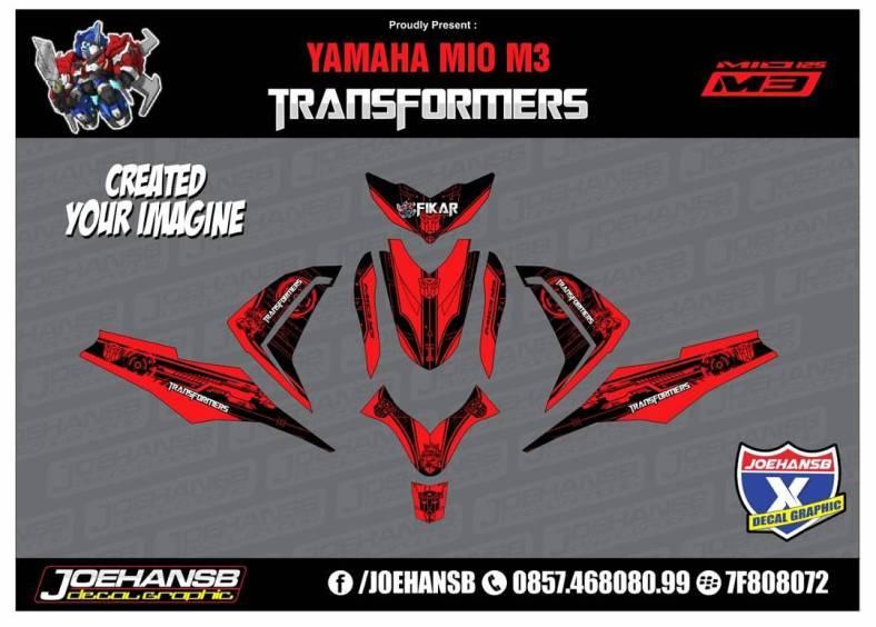 Mio MZ Transformers Red Striping Stickers Decals Joehansb - Mio decals