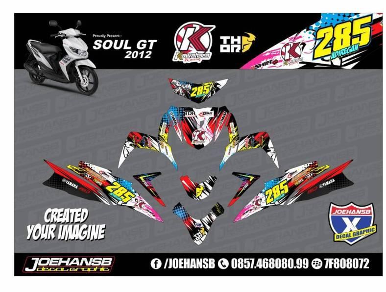 Yamaha MIO Soul GT Kawahara Striping Stickers Decals Joehansb - Mio decals