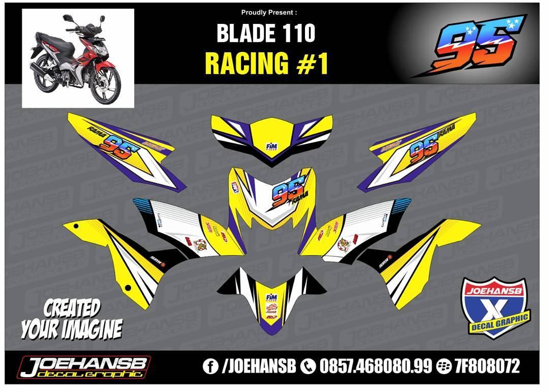 Modifikasi Striping Motor Blade Racing JOEHANSB Decal Graphic - Mio decalsmodifikasi striping mio j striping stickers decals joehansb