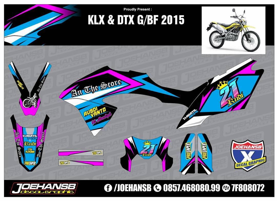 Modifikasi Striping Motor Kawasaki Klx Dtx New JOEHANSB Decal - Mio decalsmodifikasi striping mio j striping stickers decals joehansb