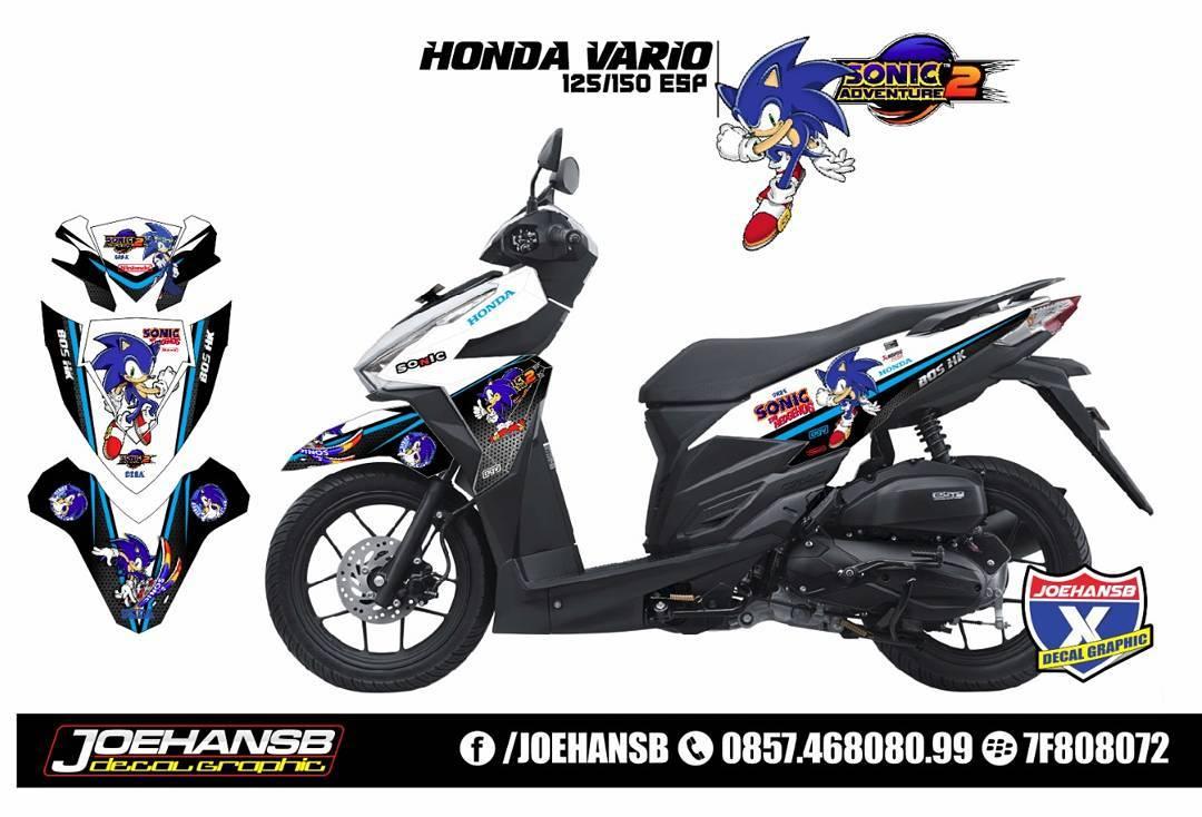 Modifikasi Striping Motor Honda Vario 125 /150 Esp Sonic