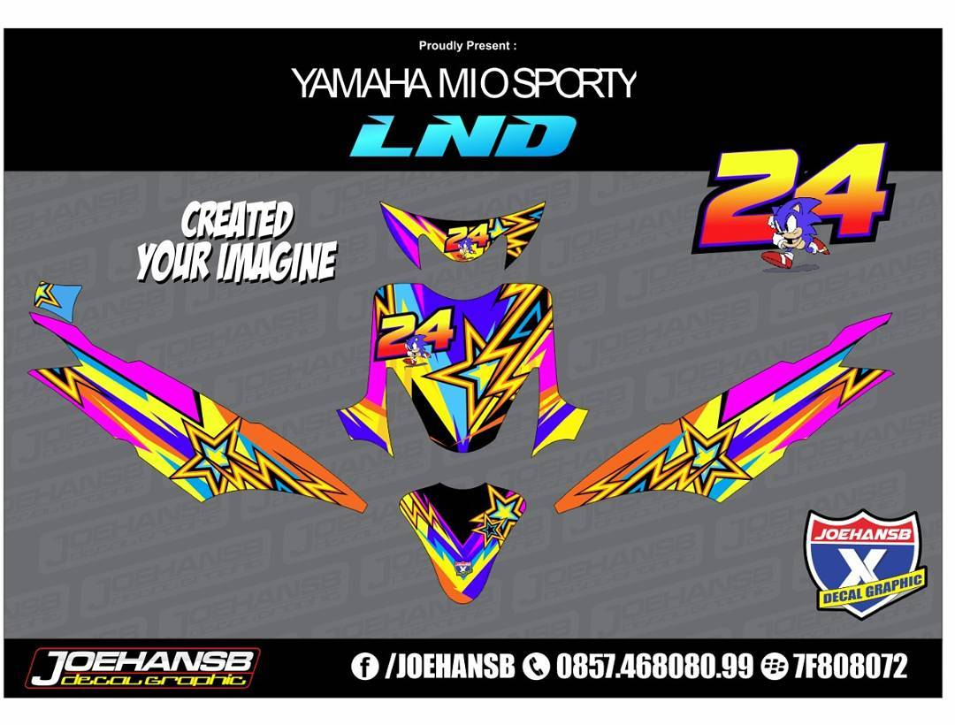 Modifikasi striping yamaha mio sporty racing style joehansb decal graphic striping stickers decals joehansb jualdecal yamaha miosporty racinglook
