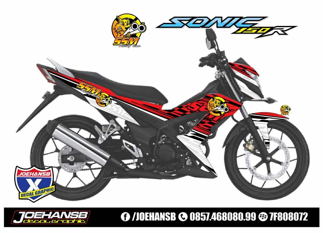 Modifikasi Striping Honda Sonic SSM Team #striping