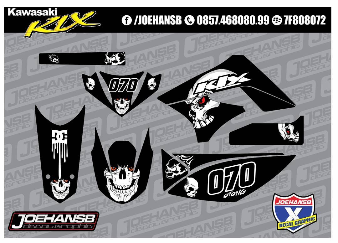 Modifikasi Striping Motor Kawasaki Klx Dtx Bone Black JOEHANSB - Mio decalsmodifikasi striping mio j striping stickers decals joehansb