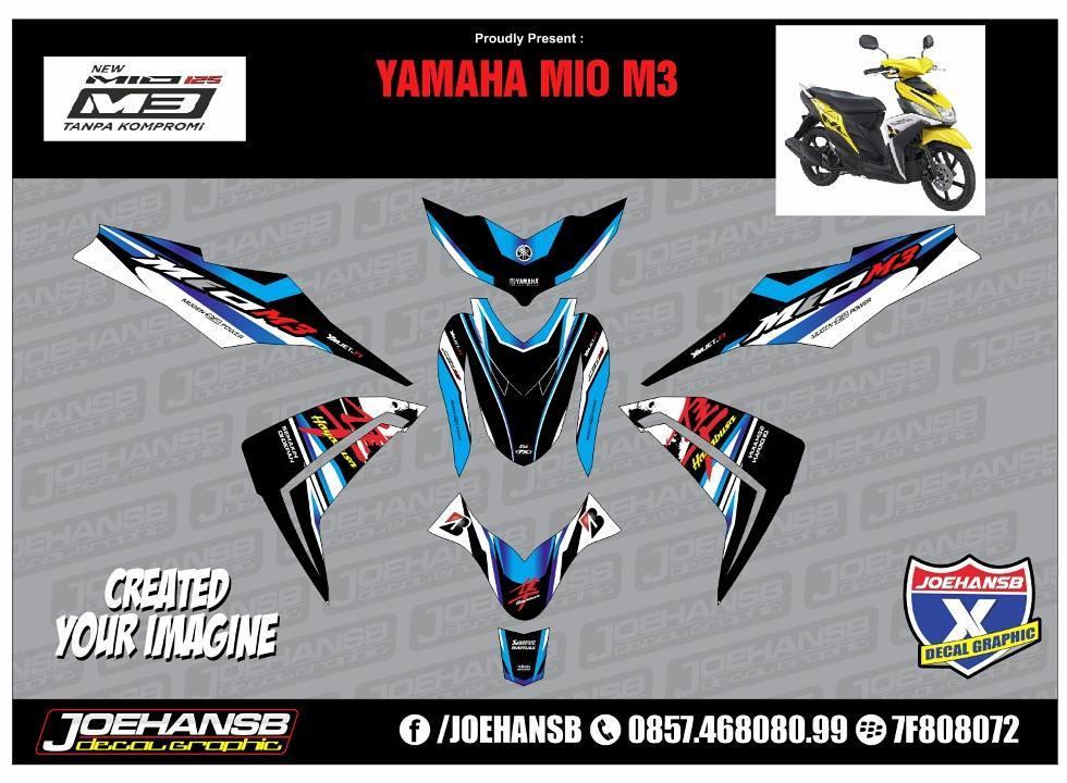 Modifikasi Stiker Mio M3 125 Satu Sticker