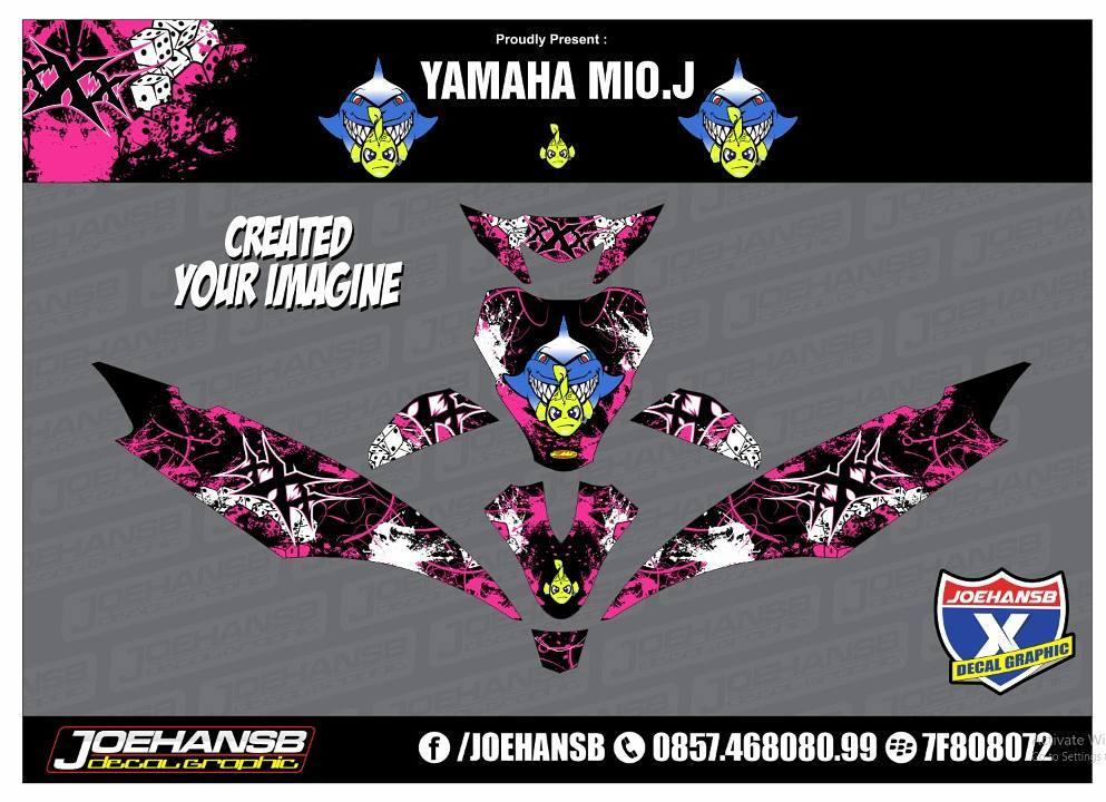 Modifikasi Striping Motor Yamaha MIO J XXX Pink Order Decal - Mio decalsmodifikasi striping mio j striping stickers decals joehansb