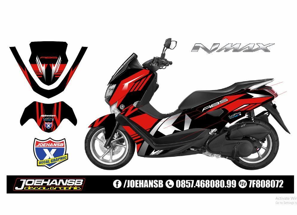 Modifikasi Striping Motor Yamaha NMAX Order Decal JOEHANSB