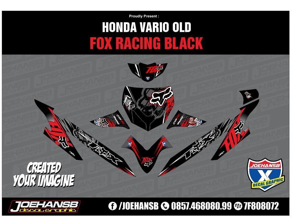 Modifikasi Striping Motor Honda Vario Cw Fox Order Decal Joehansb