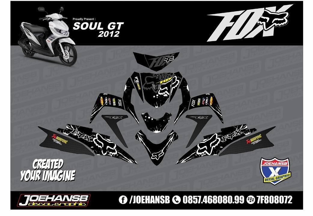 Modifikasi Striping Motor Yamaha MIO Soul GT Fox is Black