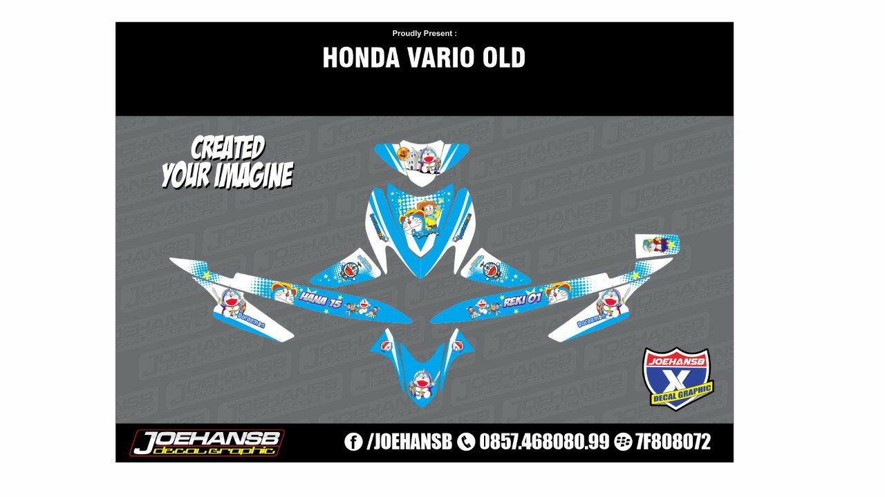 Decal Custom Honda Vario 110 Motif Doraemon Joehansb Decal Graphic